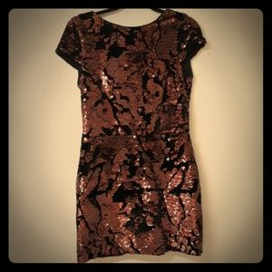 🎄Vince camuto velvet and sequin cocktail dress